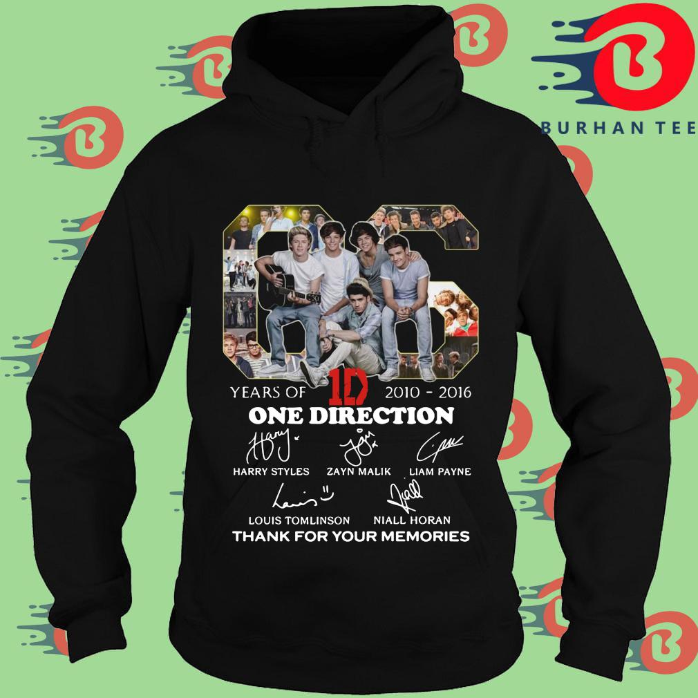 66 years of 2010-2016 One Direction thank for your memories signatures Hoodie