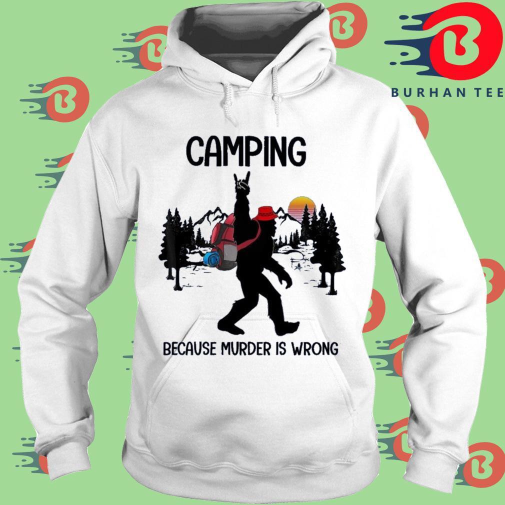BIgfoot camping because murder is wrong sunset trang Hoodie