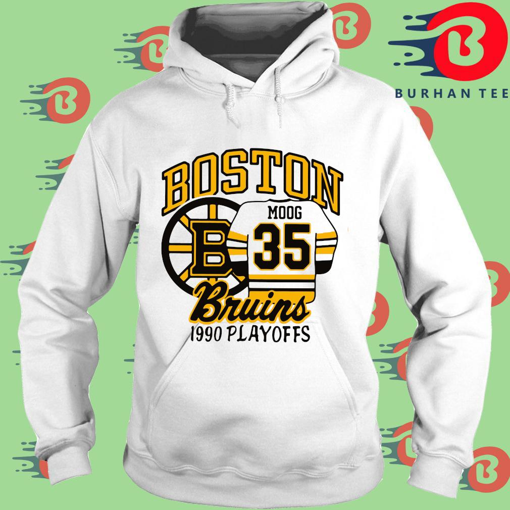 Boston Moog 35 Bruins 1990 playoffs trang Hoodie