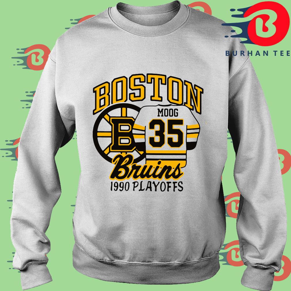 Boston Moog 35 Bruins 1990 playoffs trang Sweater