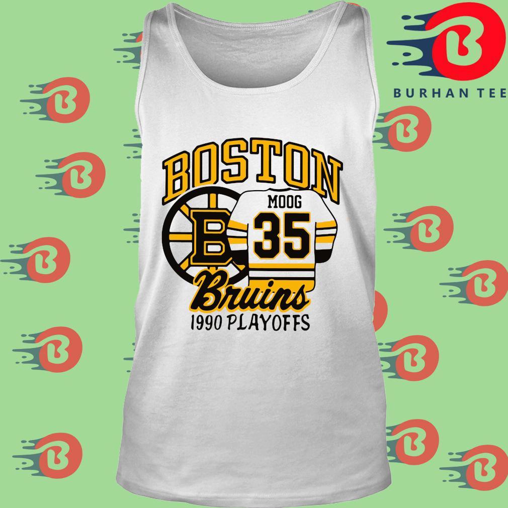Boston Moog 35 Bruins 1990 playoffs trang Tank top