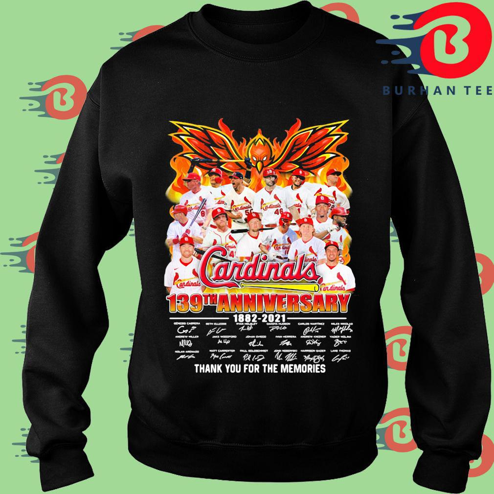 Cardinals 139th anniversary 1882-2021 thank you for the memories signatures Sweater