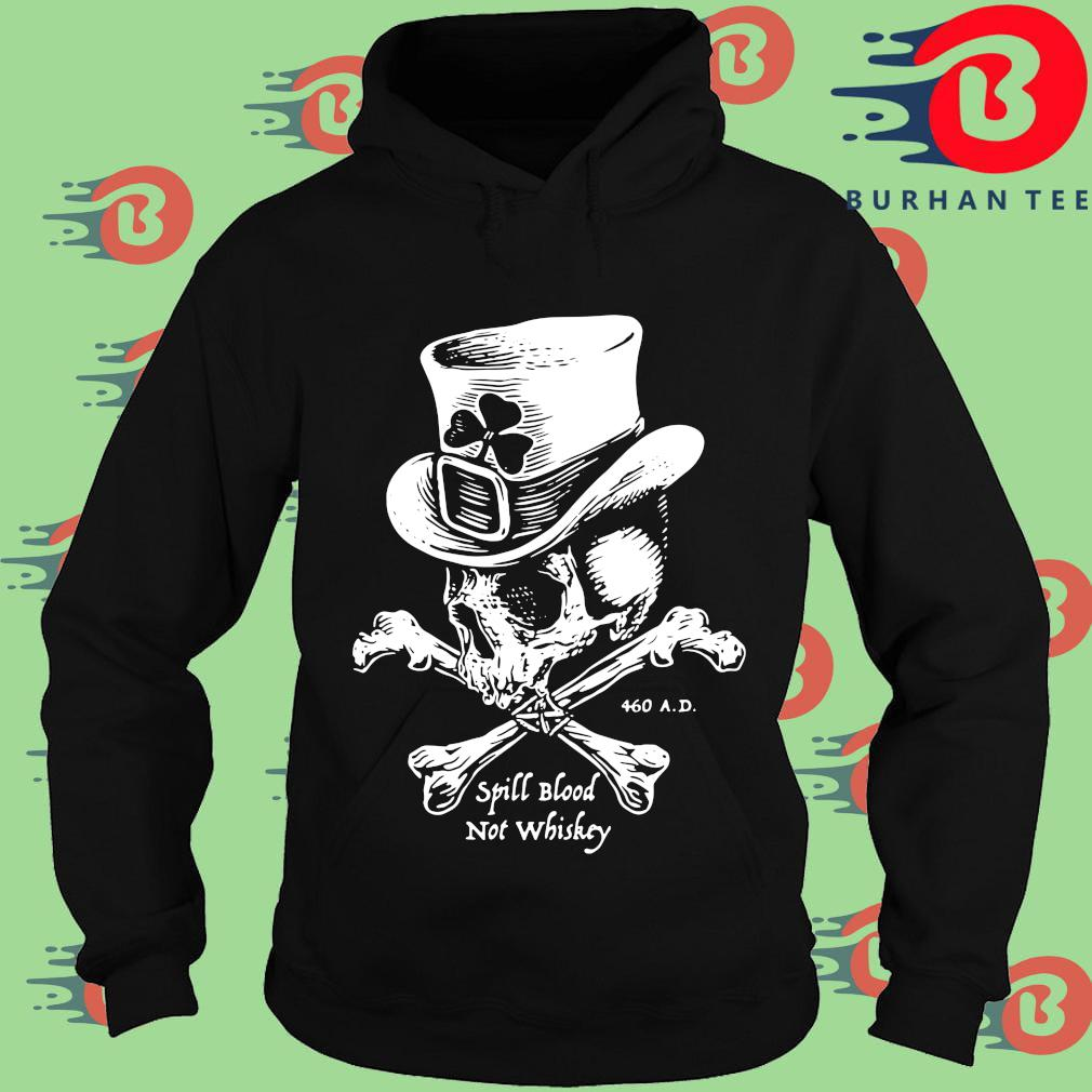 Irish skull spill blood not whiskey Hoodie