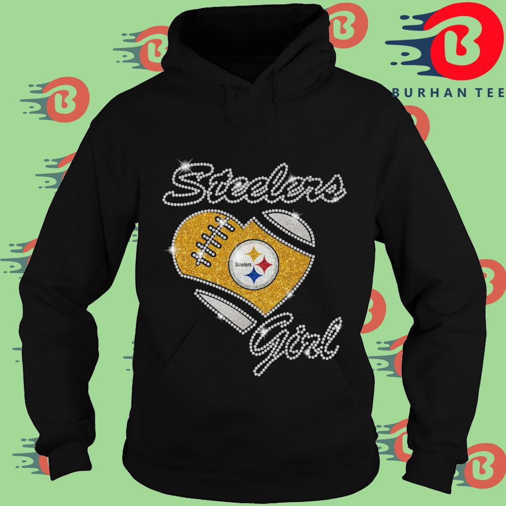 Pittsburgh Steelers girl heart diamond Hoodie