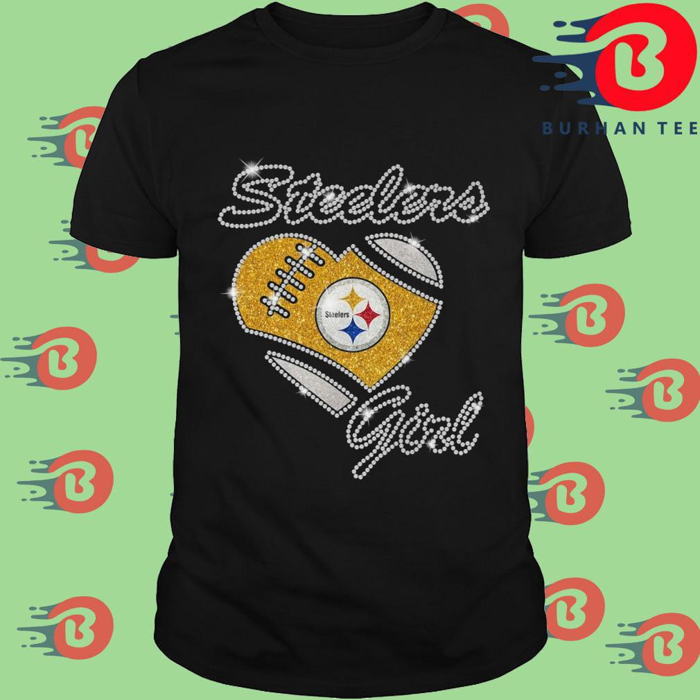 Pittsburgh Steelers girl heart diamond shirt