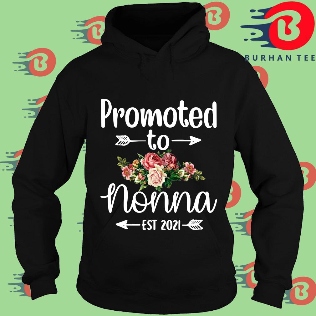 Promoted to nonna est 2021 floral s Hoodie