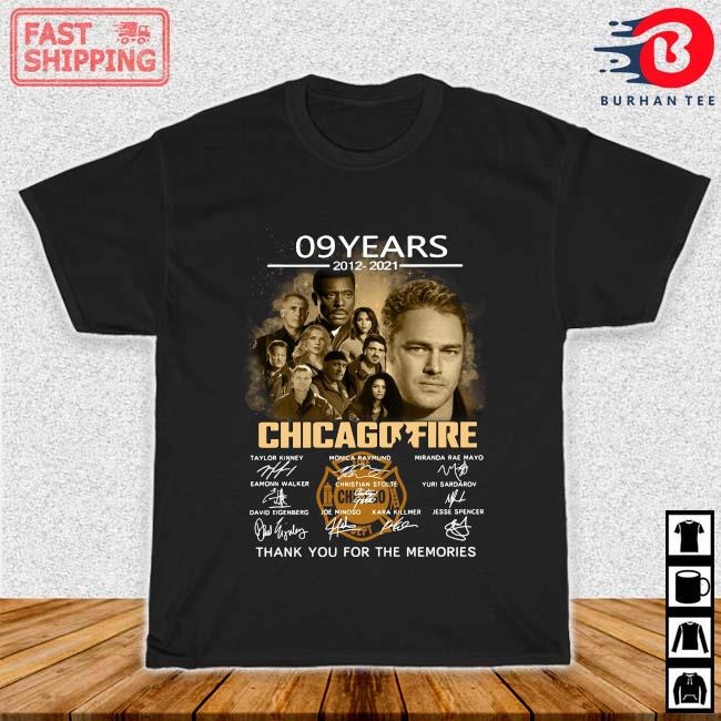 09 years 2012-2021 Chicago Fire thank you for the memories signatures shirt