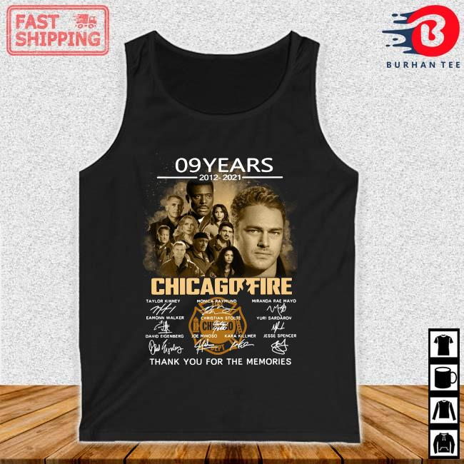09 years 2012-2021 Chicago Fire thank you for the memories signatures Tank top den