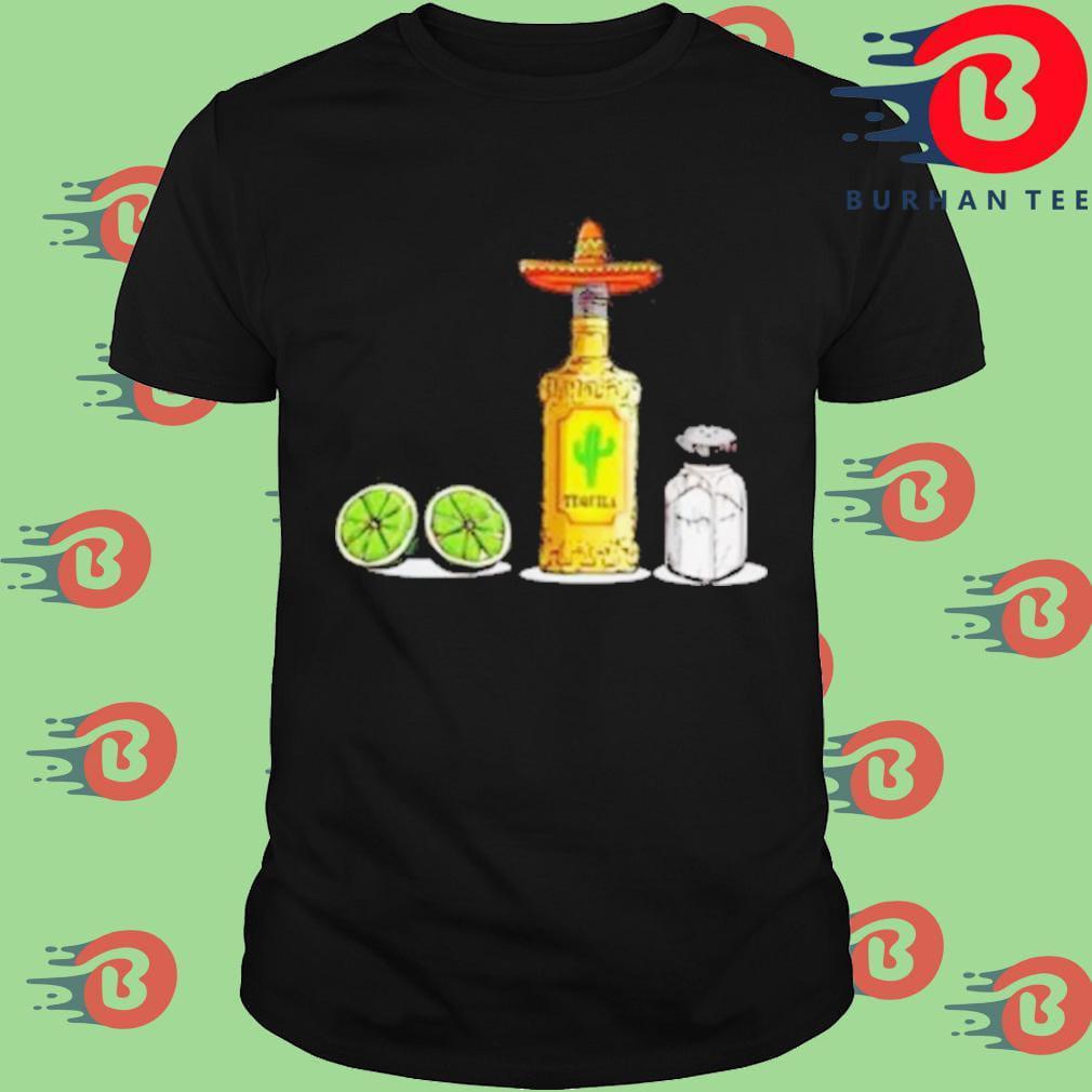 A bottle tequila lemon and salt tequila shirt