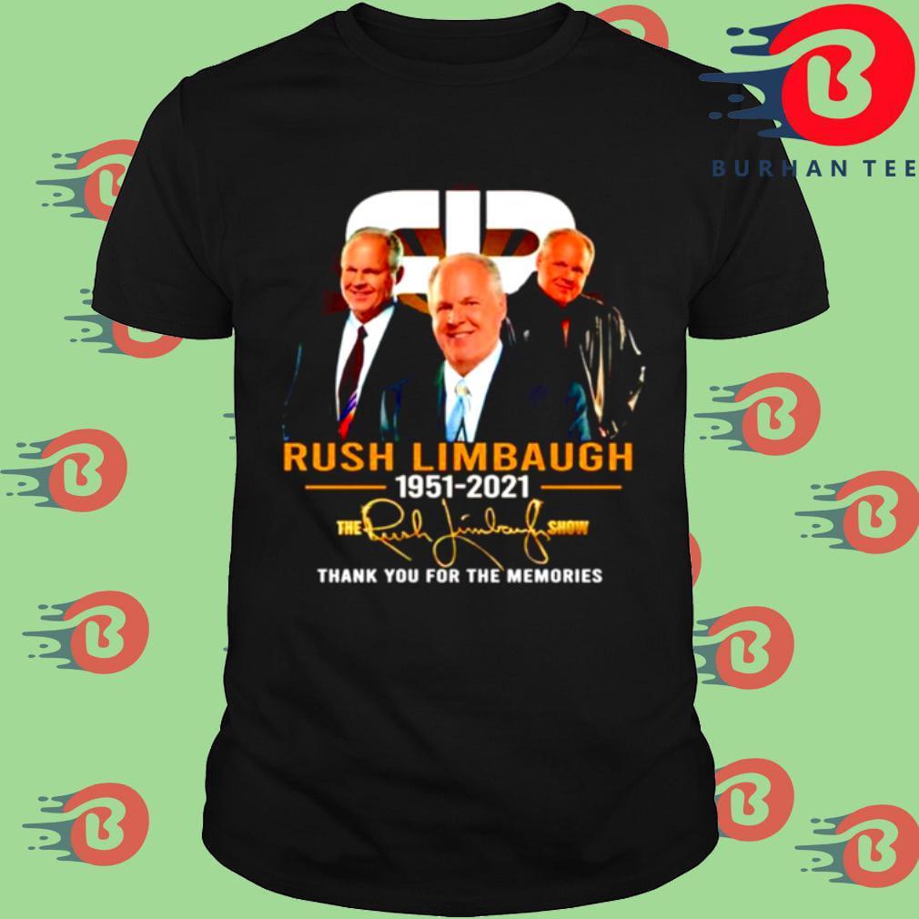 Rush Limbaugh 1951 2021 signature the Rush Limbaugh show thank you for the memories shirt