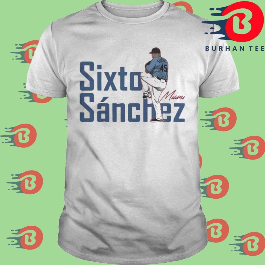 Sixto Sanchez Miami Marlins signature 2021 shirt