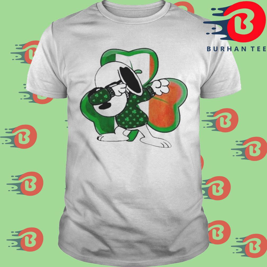 Snoopy Dabbing Shamrock Irish St Patricks Day shirt
