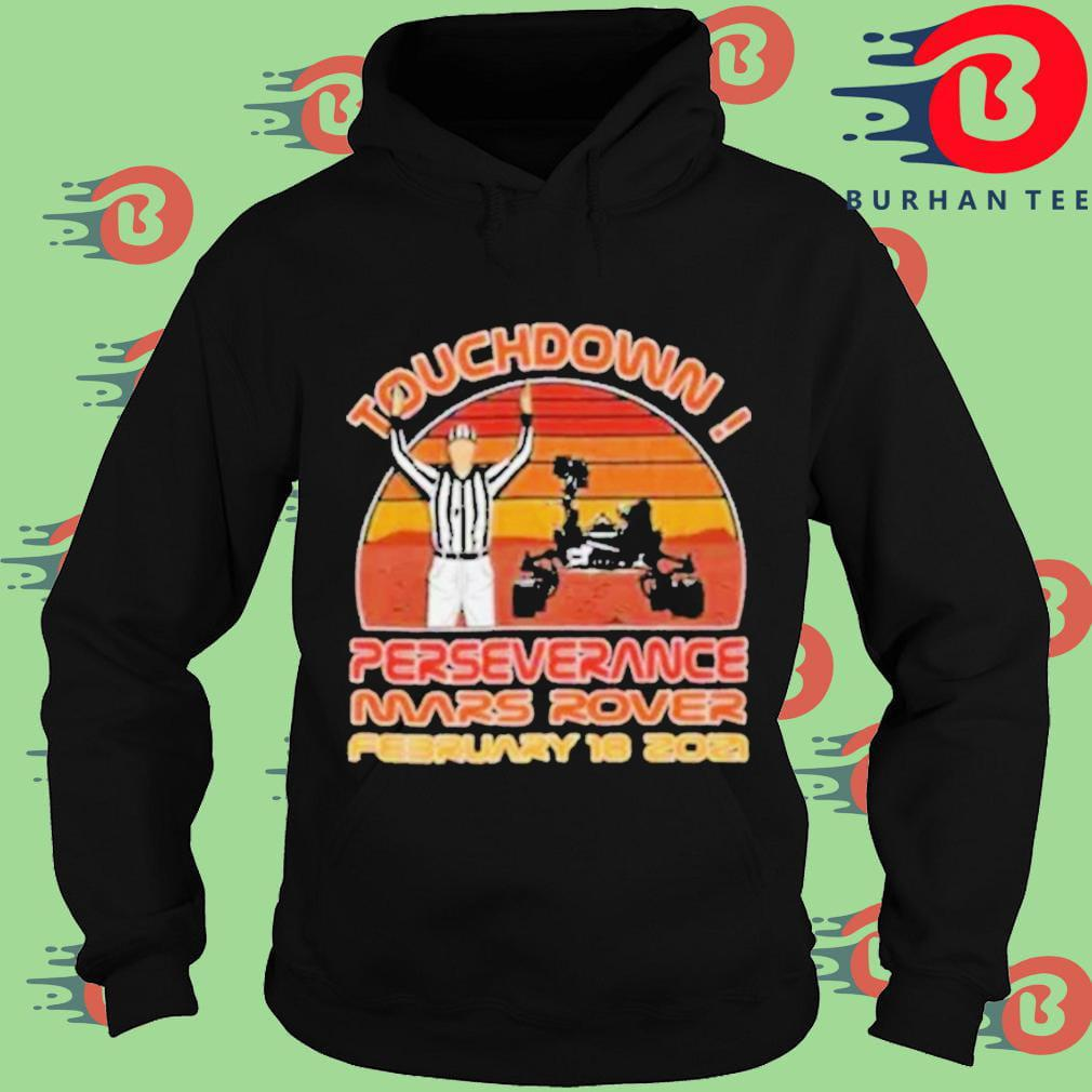 Touchdown perseverance mars rover february 2021 sunset vintage Hoodie