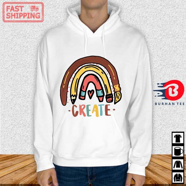 Rainbow pencil create Hoodie trang