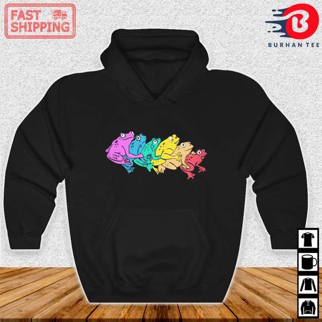 Pfizer Rainbow Gay Frog Shirt Hoodie den