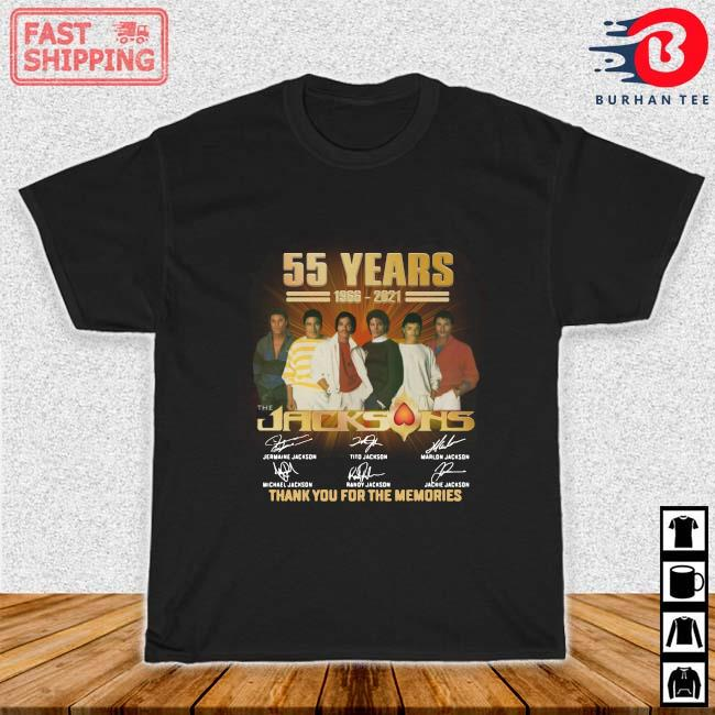55 years 1966-2021 The Jacksons thank you for the memories signatures shirt_