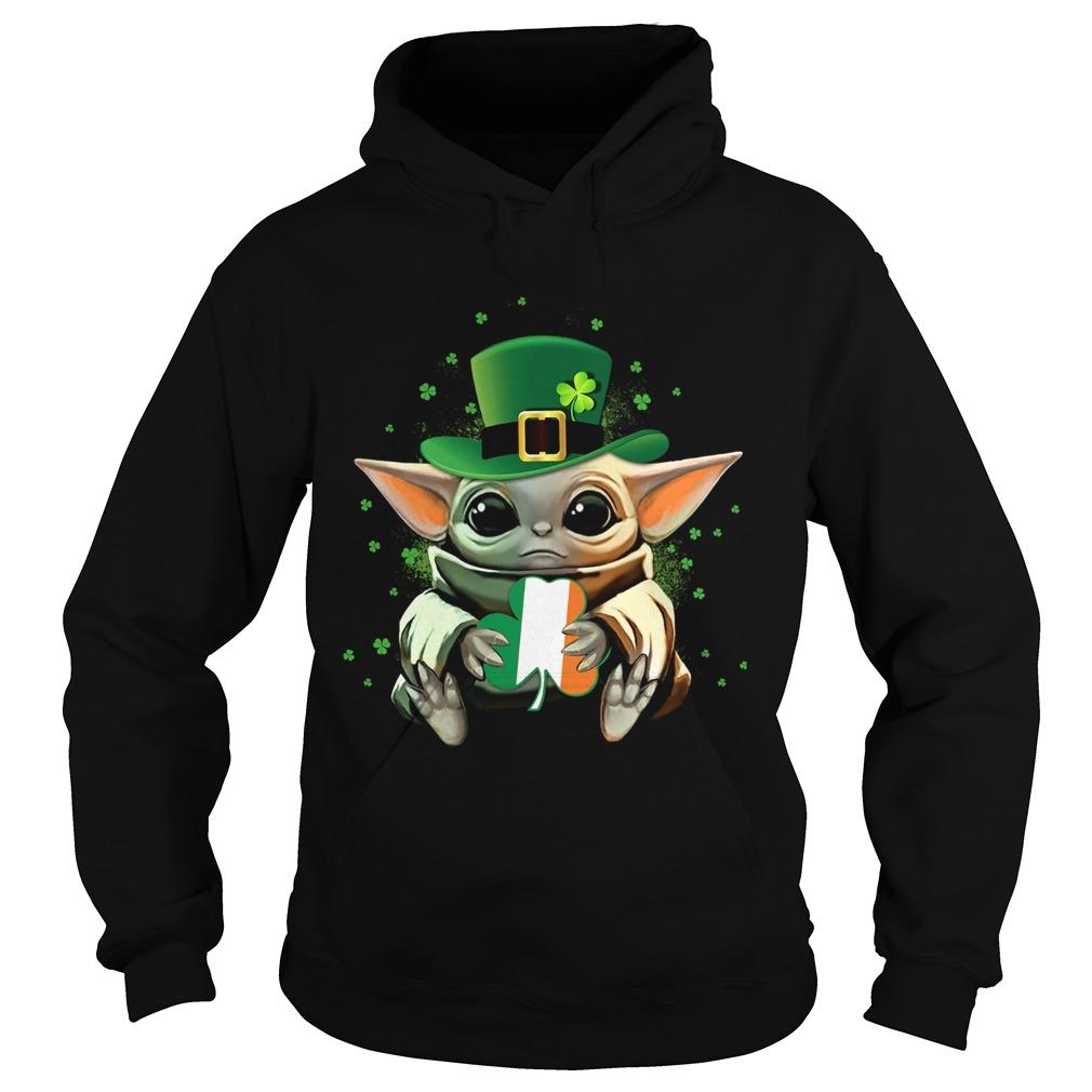 Baby Yoda Hug St Patricks Day  Hoodie