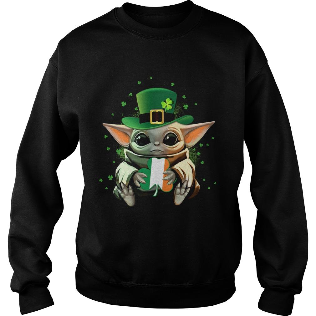 Baby Yoda Hug St Patricks Day  Sweatshirt