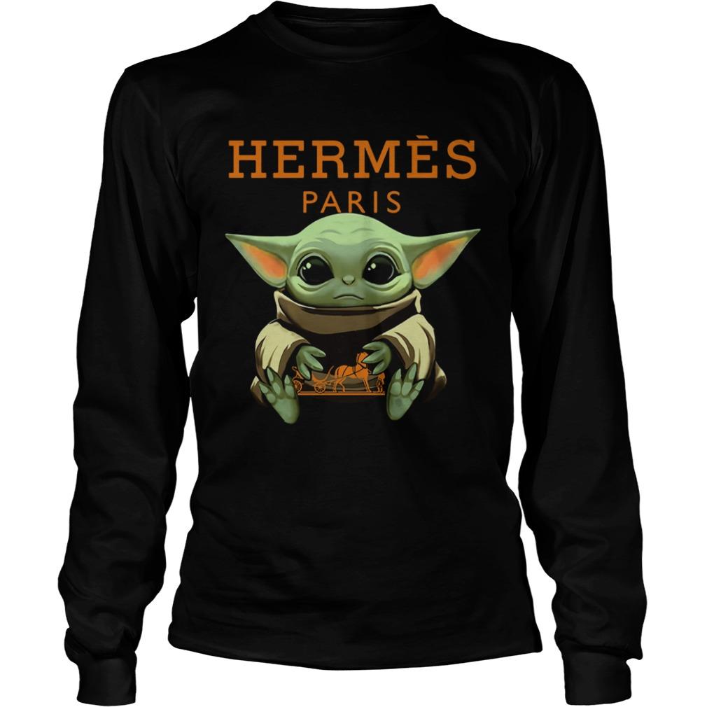 Baby Yoda Hugging Hermes Paris  LongSleeve