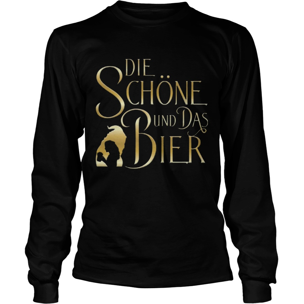 Beauty And The Beast Die Schne Und Das Bier  LongSleeve