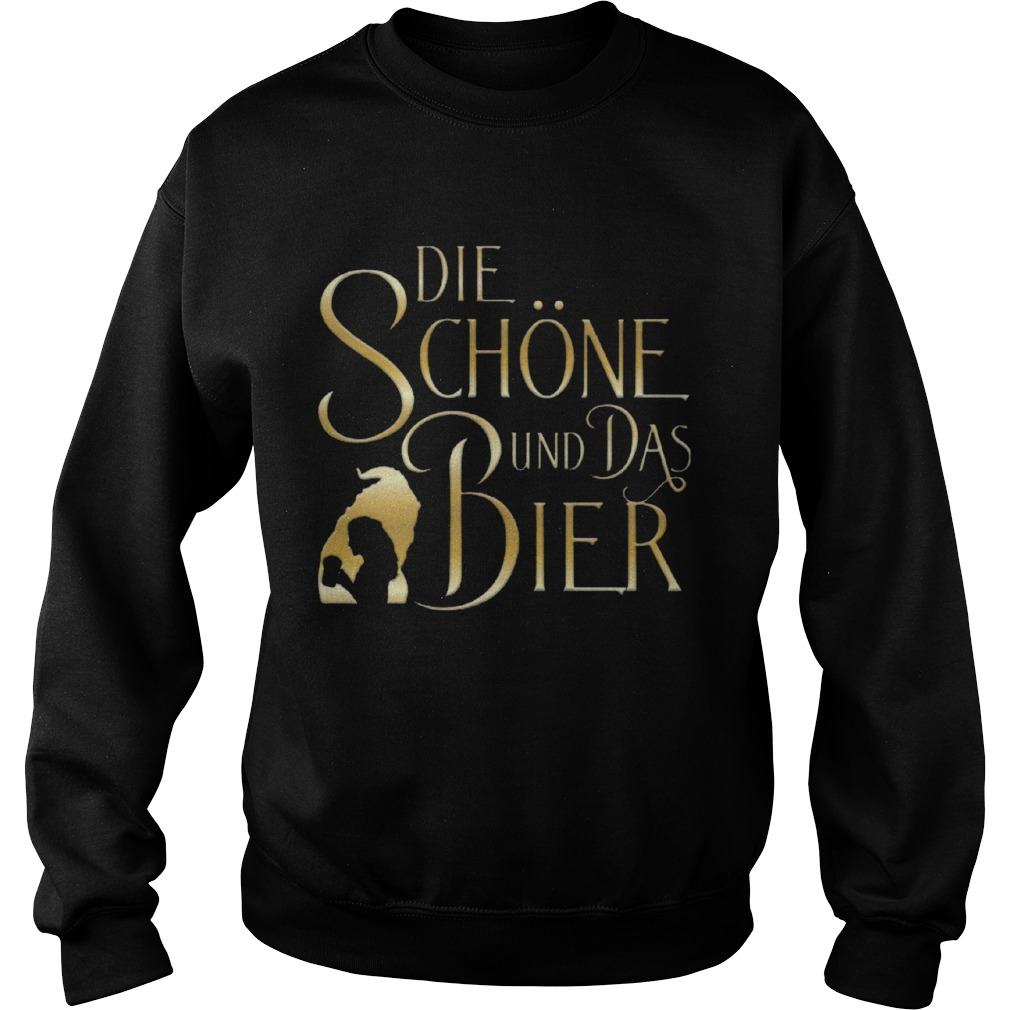 Beauty And The Beast Die Schne Und Das Bier  Sweatshirt