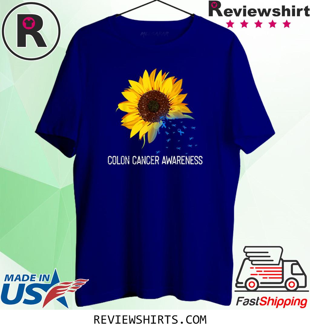 Sunflower Colon Cancer Awareness Costume Ribbon T Shirt Hoodie Sweatshirt And Long Sleeve
