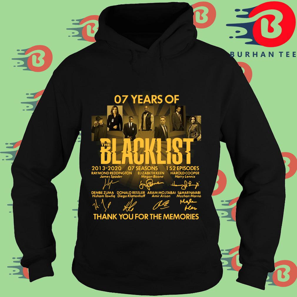 07 Of Years Of Blacklist Signatures Thank You For The Memories Shirt Hoodie