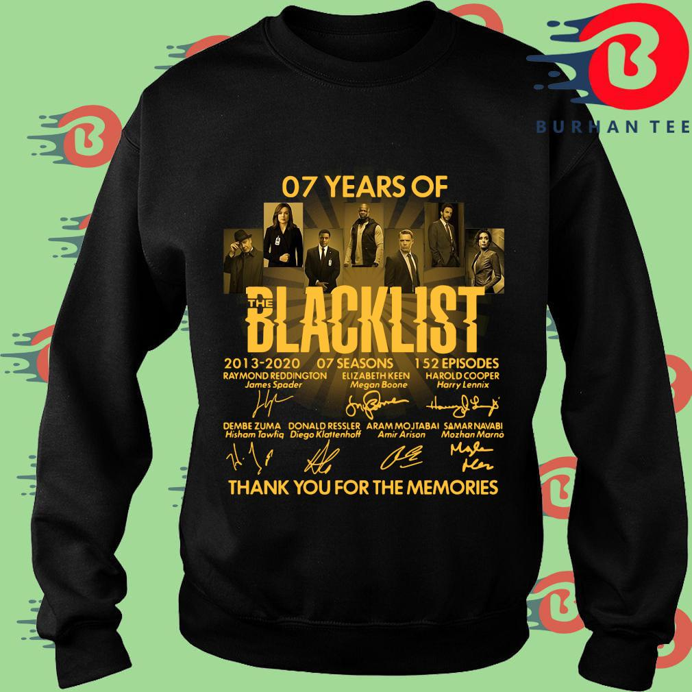 07 Of Years Of Blacklist Signatures Thank You For The Memories Shirt Sweater