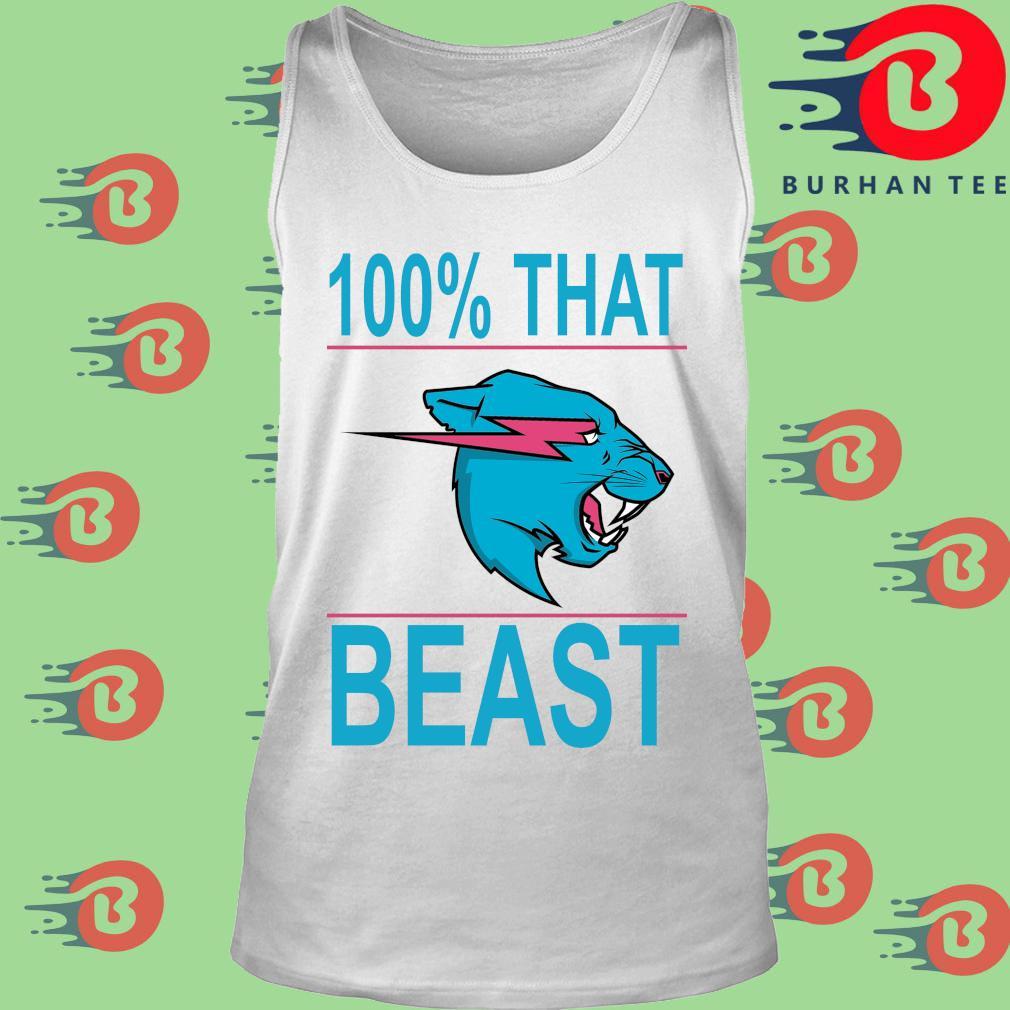 100% that beast Mr Beast s trang Tank top
