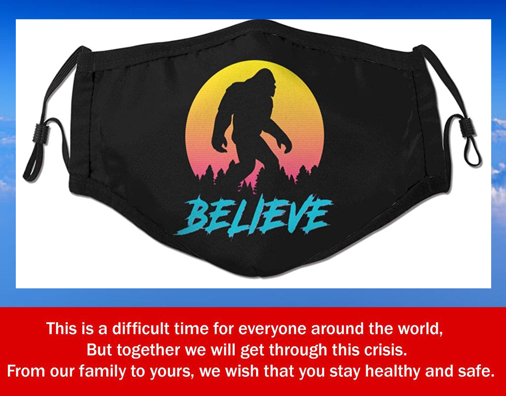 Us Bigfoot Sasquatch Believe Filter Face Mask