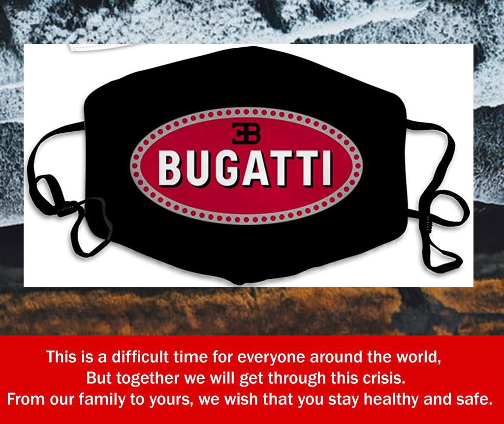 Logo Bugatti Filter Face Mask