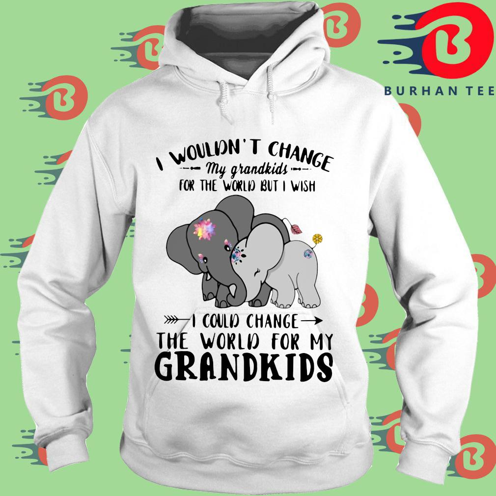 Elephant I wouldn't change my grandkids for the would but I wish s trang Hoodie