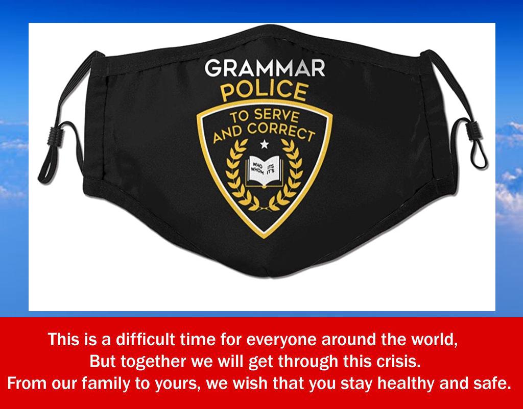 Us Grammar Police Filter Face Mask