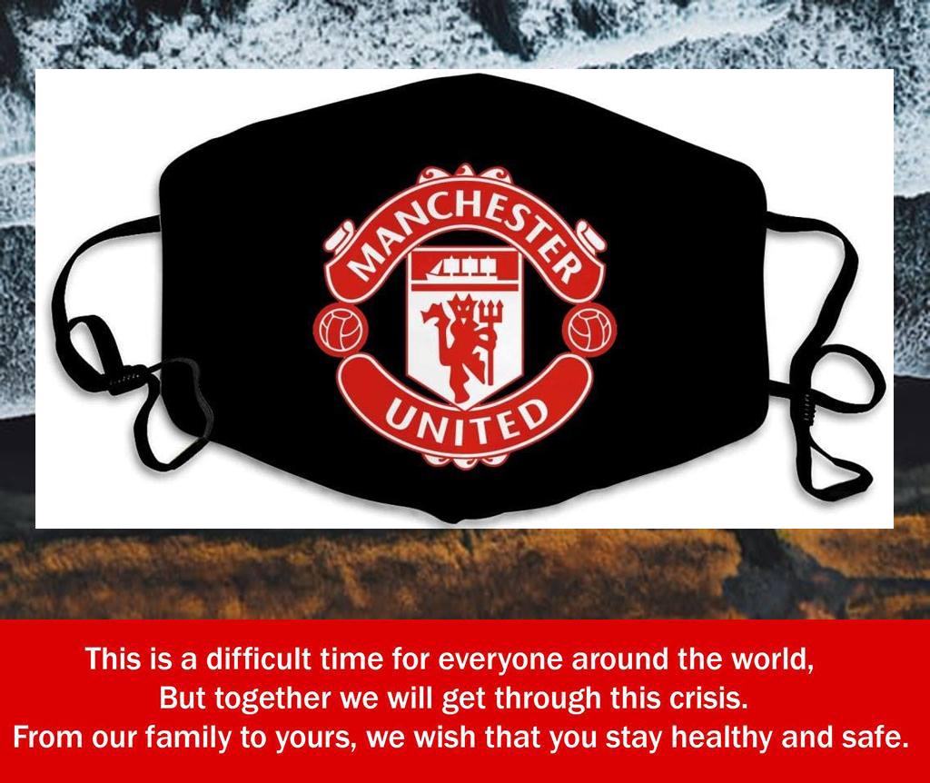Logo Manchester United Filter Face Mask
