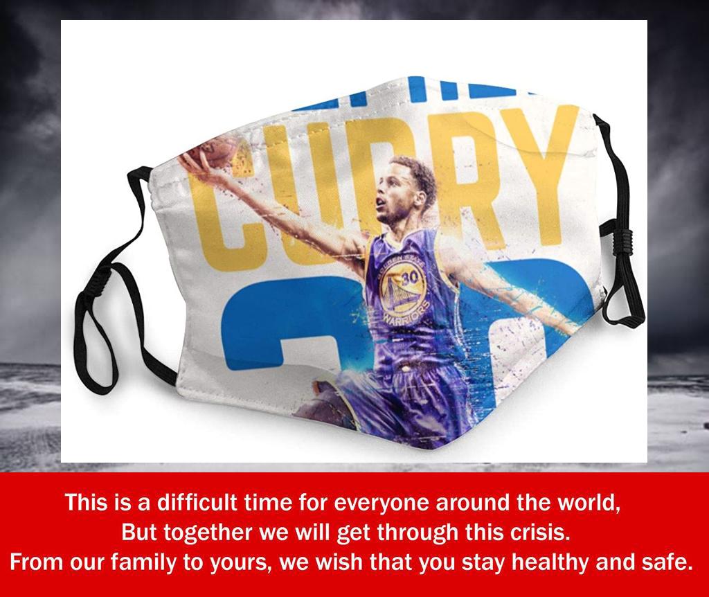 NBA Superstar Player Stephen Curry #30 Filter Face Mask