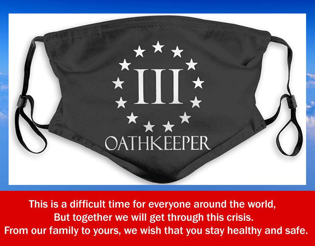 US Oathkeeper Mans Women Dustproof Filter Face Mask