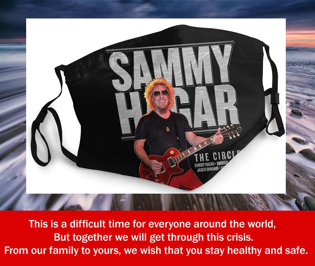 Sammy Hagar Summer Tour 2019 Filter Face Mask