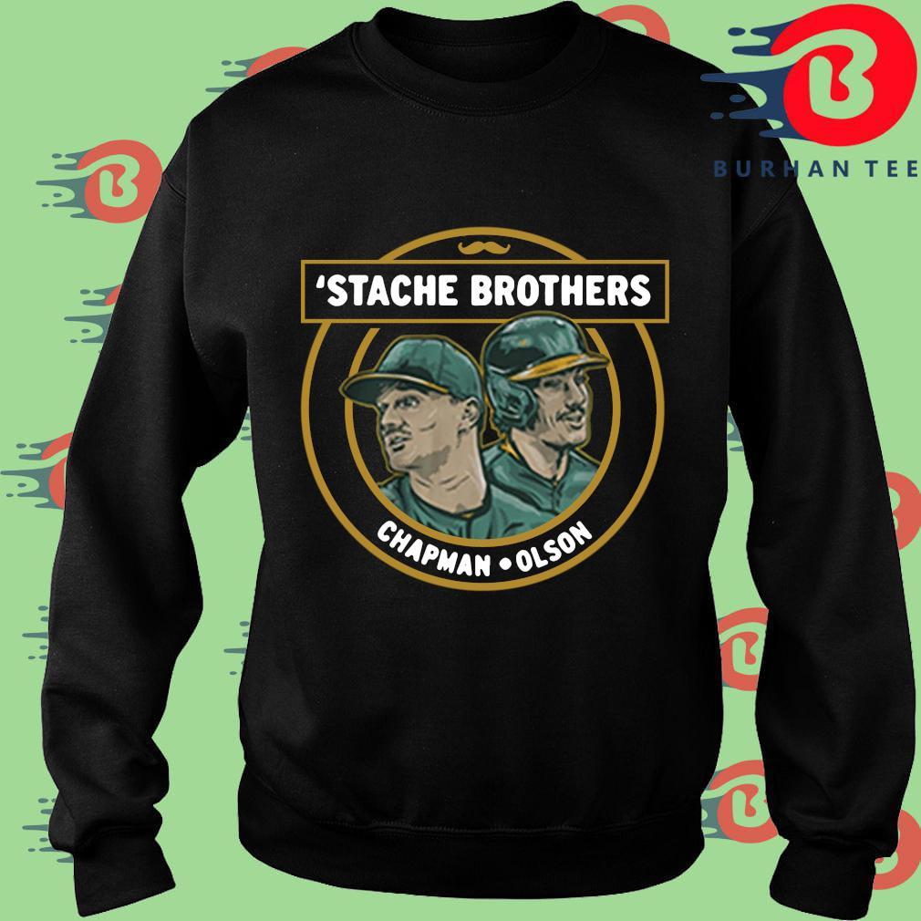 'Stache brothers matt chapman and matt Olson Oakland s Sweater