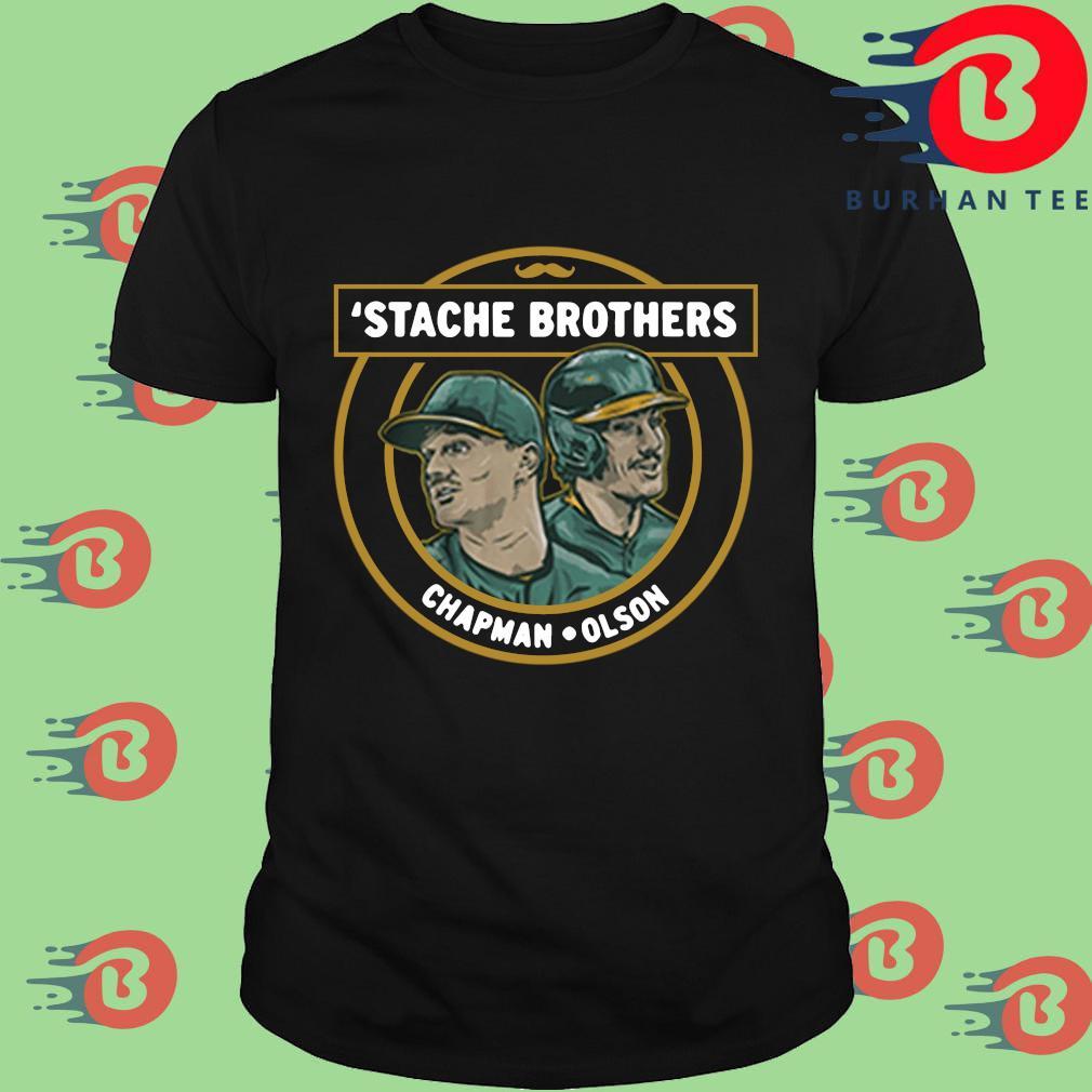 'Stache brothers Matt Chapman and Matt Olson shirt