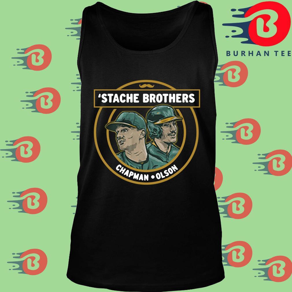 'Stache brothers Matt Chapman and Matt Olson s Tank top