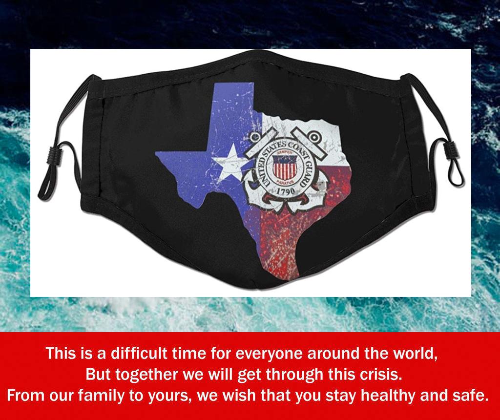 Texas Us Coast Guard Filter Face Mask