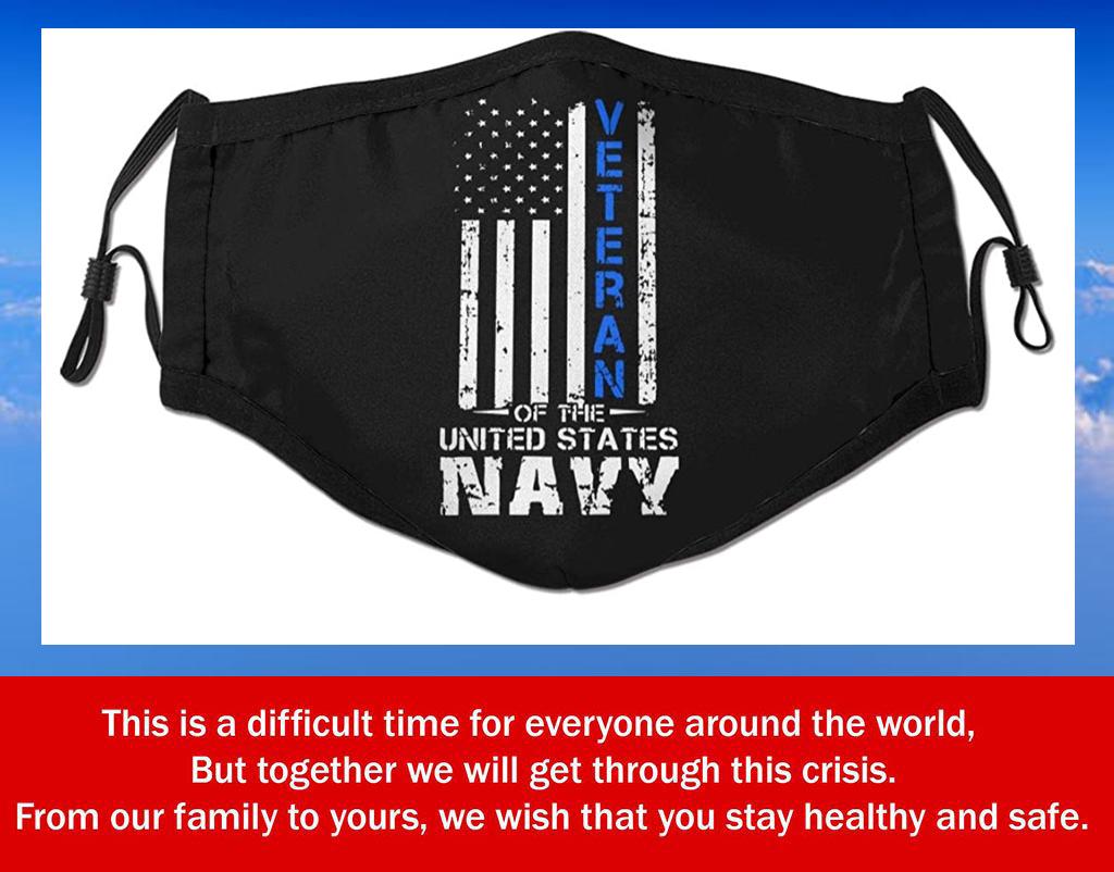 Us Navy Veteran Filter Face Mask