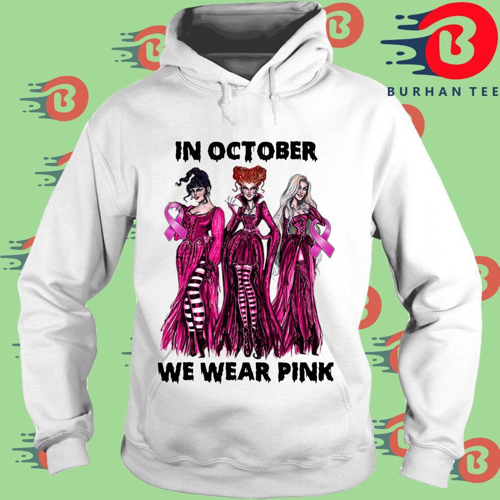 Hocus Pocus Breast cancer awareness in October we wear pink Halloween s trang Hoodie