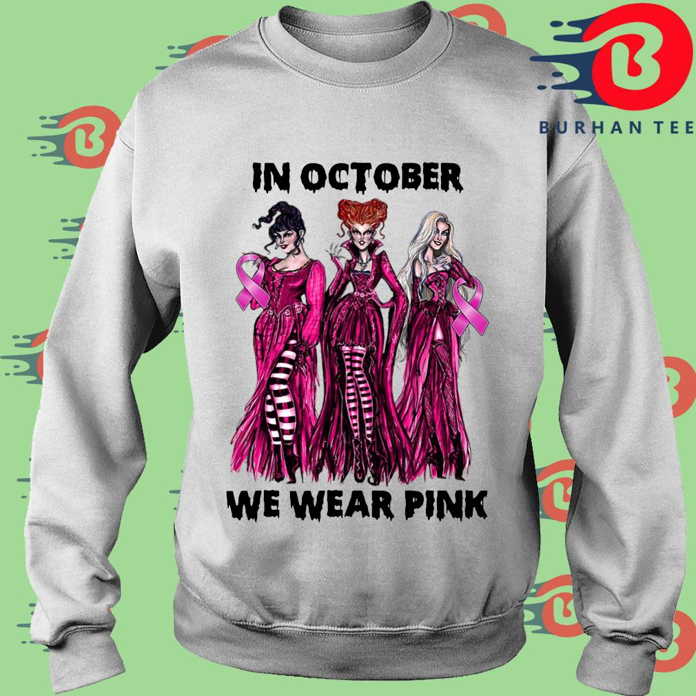 Hocus Pocus Breast cancer awareness in October we wear pink Halloween s trang Sweater