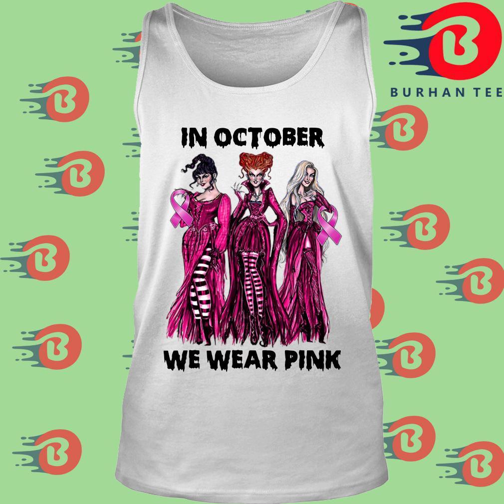 Hocus Pocus Breast cancer awareness in October we wear pink Halloween s trang Tank top