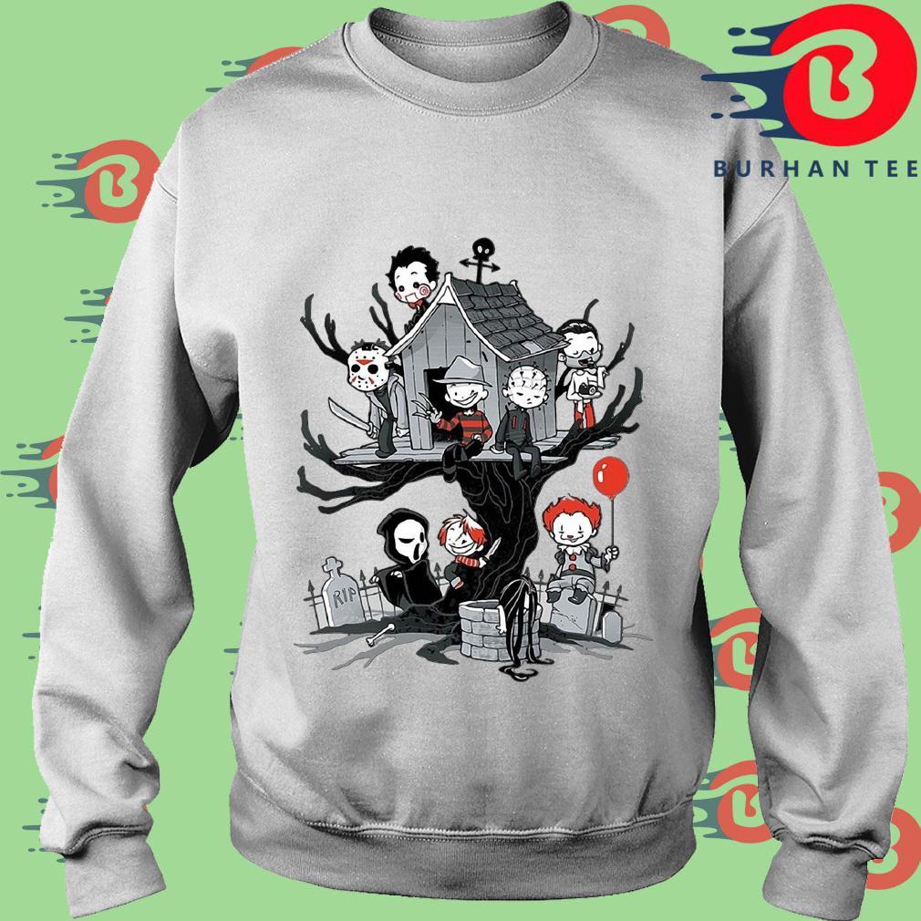 Maniac Park Horror character theme park tree Halloween s trang Sweater