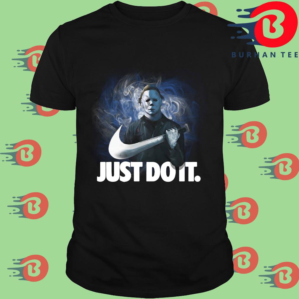 Michael Myers Nike just do it Halloween shirt