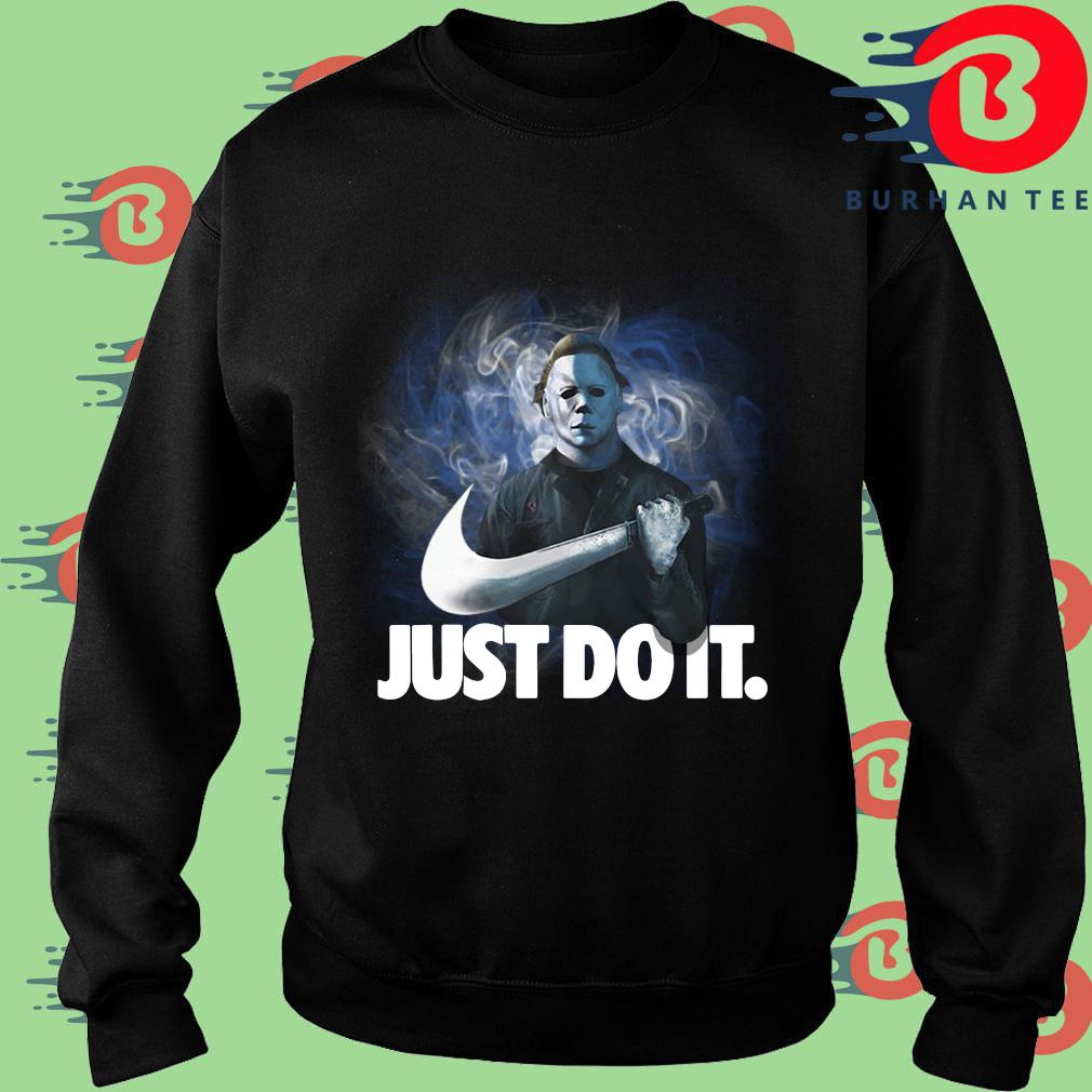 Michael Myers Nike just do it Halloween s Sweater