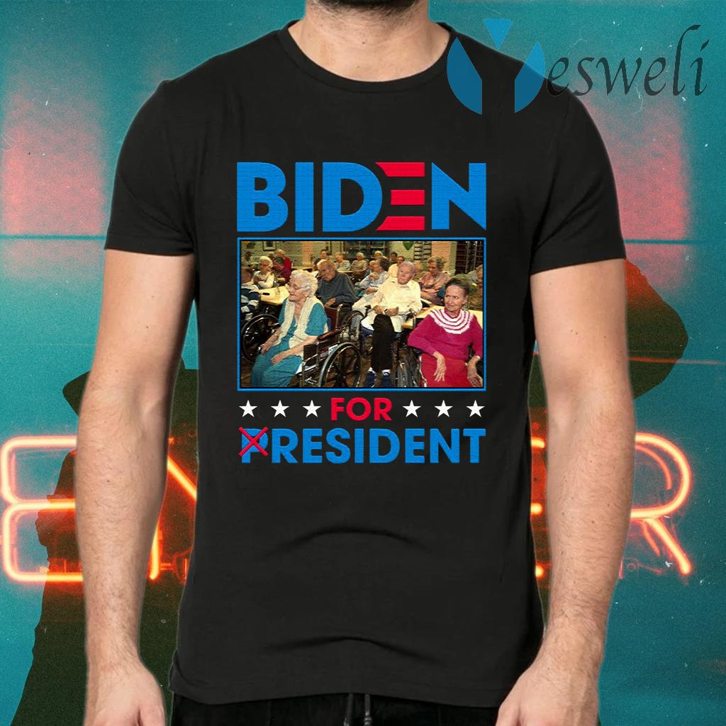 Biden For Resident Funny Trump Mocking T-Shirts