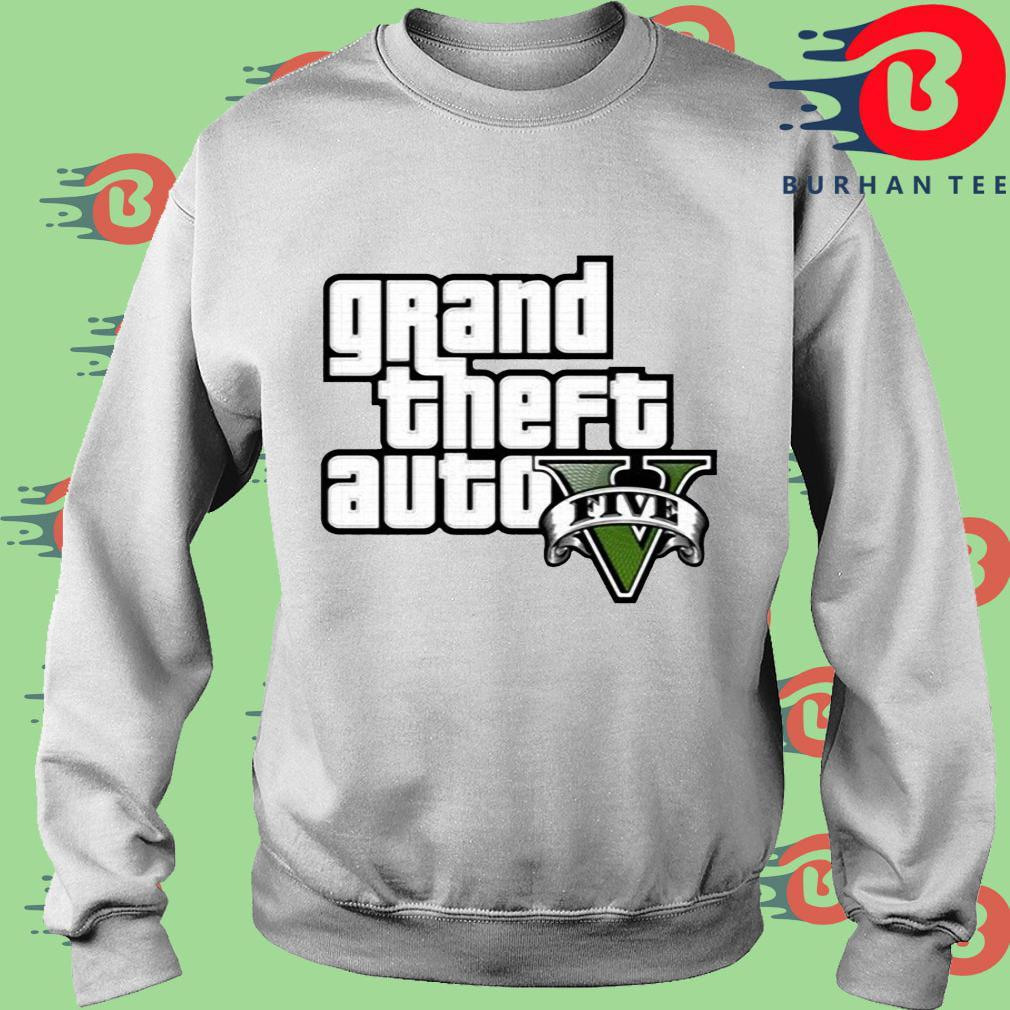 Grand Theft Auto V Logo Shirt trang Sweater